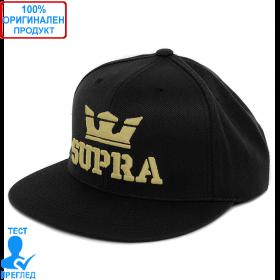 Supra - шапка с козирка - черно - златисто