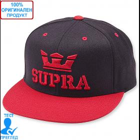 Supra - шапка с козирка - черно - червено