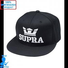 Supra - шапка с козирка - черно