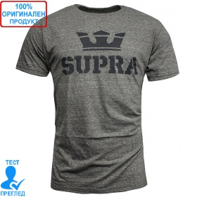 Supra Above T-shirt - мъжка тениска - сиво - сиво, Dreshnik.com