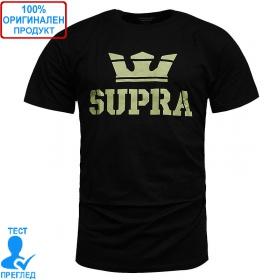 Supra Above T-shirt - мъжка тениска - черно - кафяво, Dreshnik.com