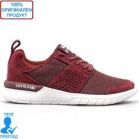 Supra Scissor - маратонки - вишнево червено - бяло