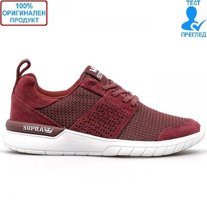ОБУВКИ - Supra Scissor - маратонки - вишнево червено - бяло