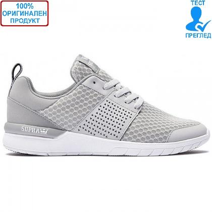 ОБУВКИ - Supra Scissor - маратонки - светло сиво - бяло