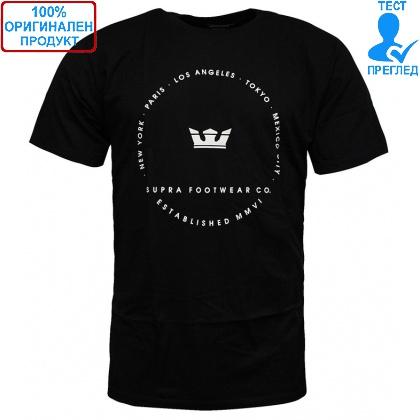 ДРЕХИ - Supra Sphere T-shirt - мъжка тениска - черно
