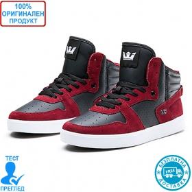 Supra Sphinx - мъжки обувки - черно- червено, Dreshnik.com