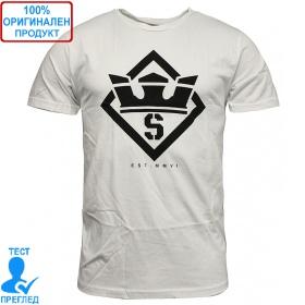 Supra Stencil T-shirt - мъжка тениска - бяло, Dreshnik.com