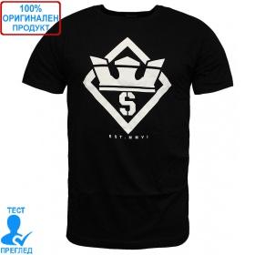 Supra Stencil T-shirt - мъжка тениска - черно, Dreshnik.com