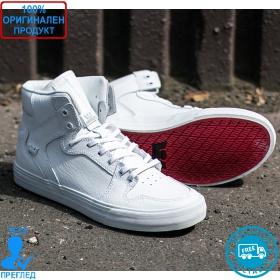 Supra Vaider - мъжки спортни обувки - бяло - бяло, Dreshnik.com