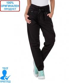 SW by Einstein - дамски панталон висока талия с колан - черно