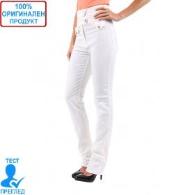 SW by Einstein - дамски панталон с висока талия - бял