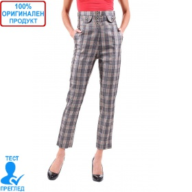 SW by Einstein - дамски панталон с висока талия - каре