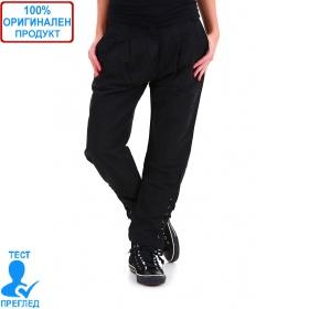 SW by Einstein - дамски панталон - черен с вързанки