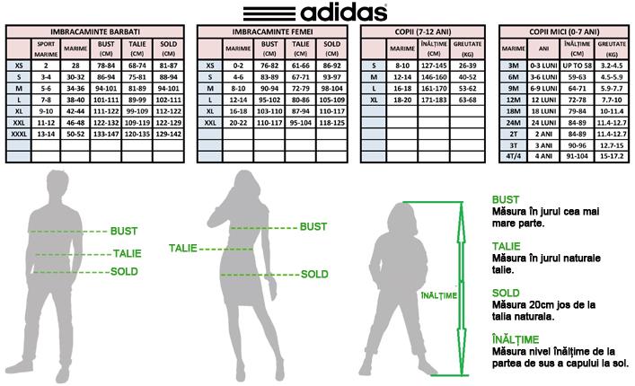 a cumpara ridicat cele mai bune oferte Adidas - tabel de marimi (Dreshnik.ro)