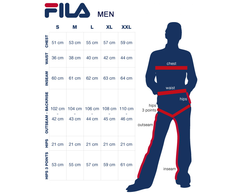 Fila Shoe Size Guide