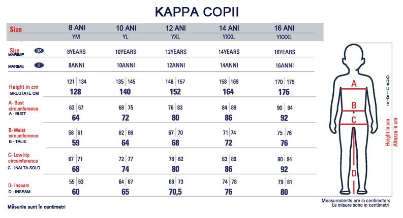 pantofi cei mai buni cel mai bun preț imagini detaliate Kappa tabel de marimi (Dreshnik.ro)