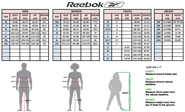eternamente inquilino Espectáculo  reebok women's size guide, OFF 74%,welcome to buy!