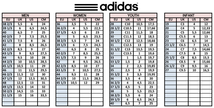 Adidas Tennis Shoe Size Compared To Nike